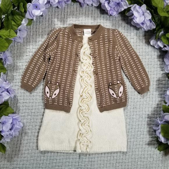 Gymboree Other - 2/$20 Baby girl Spring sweater/dress bundle